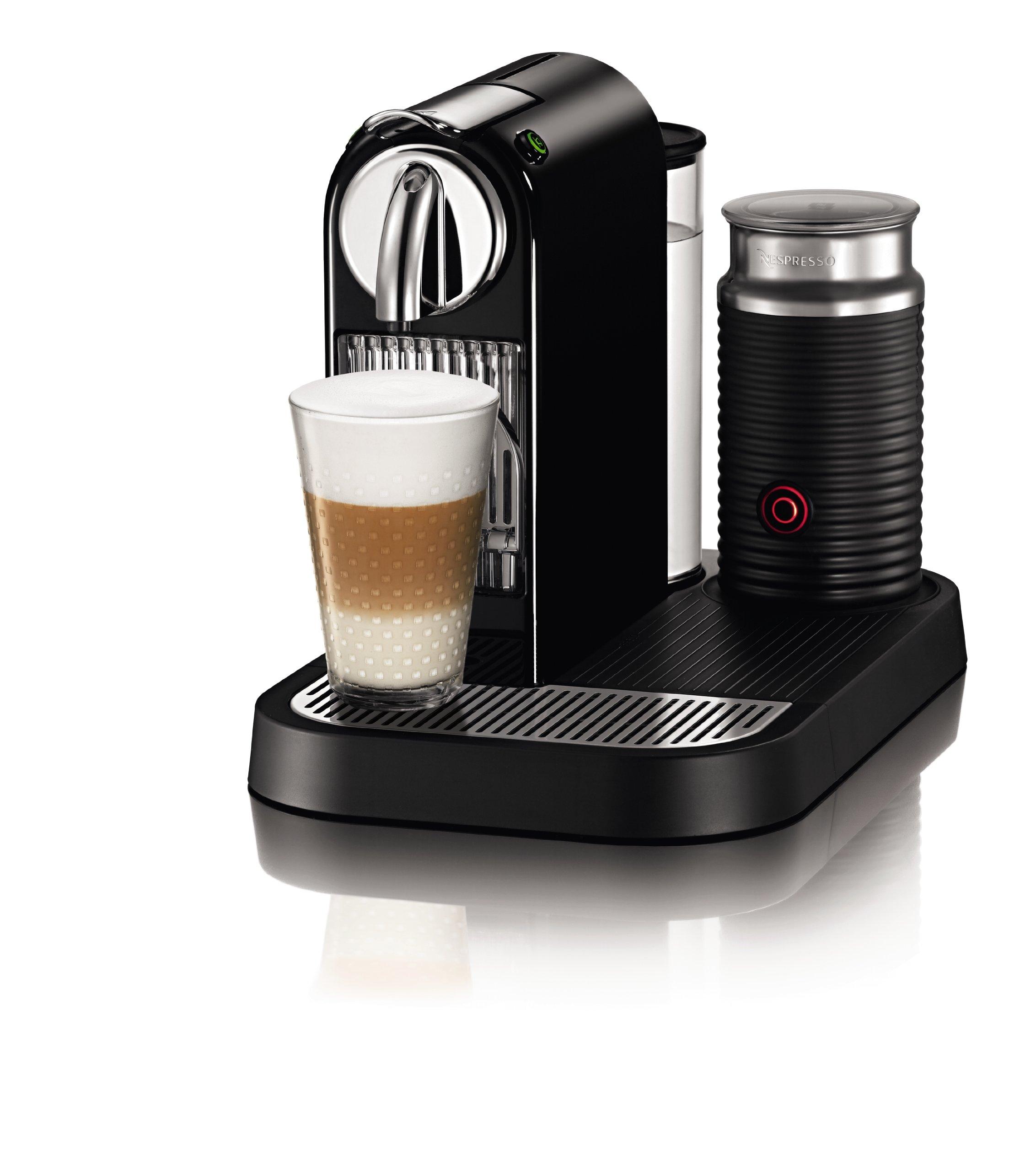 Nespresso D121-US4-BK-NE1 Citiz Espresso Maker with Aeroccino Milk Frother, Black by Nestle Nespresso