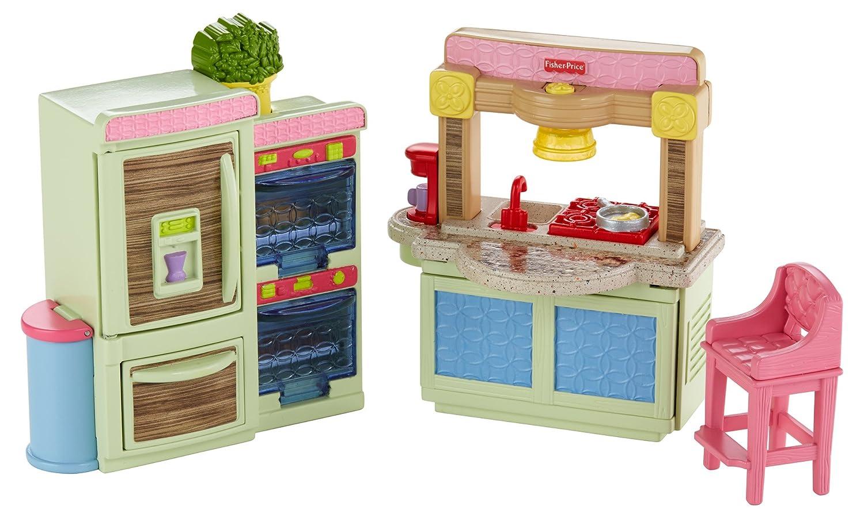 Loving Family Bedroom Furniture Amazoncom Fisher Price Loving Family Kitchen Toys Games
