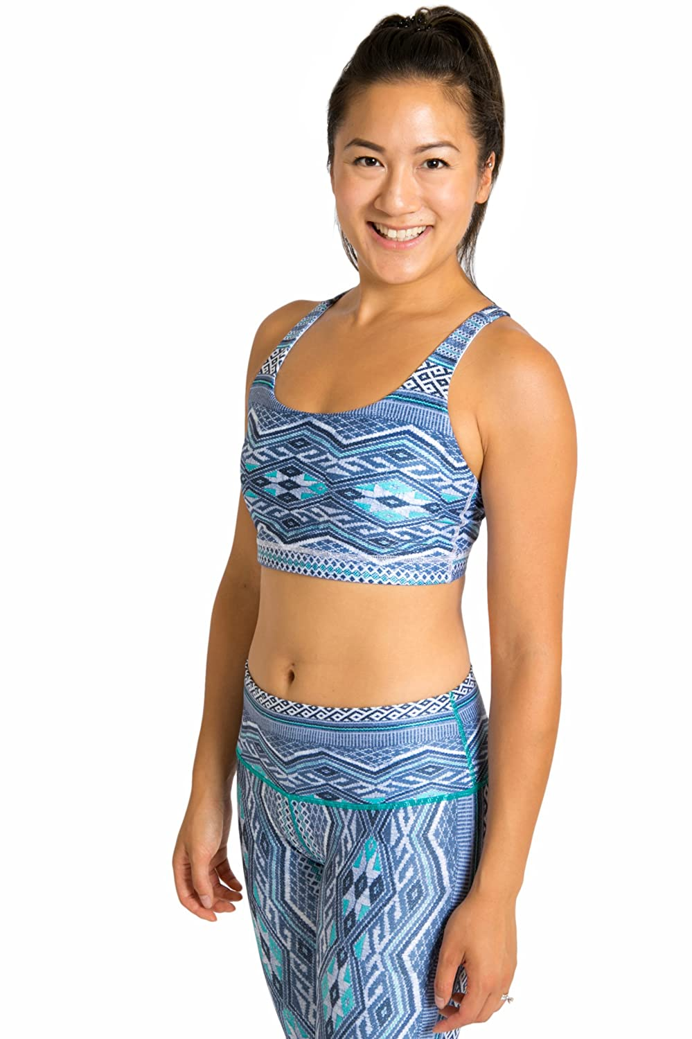 Inner Fire Sports Bra – Comfortable Support Eco-Fabric - Yoga, Hiking, Running