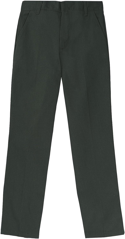 French Toast School Uniform Boys Adjustable Waist Flat Front Workwear Finish Double Knee Pants 16 Hunter Green