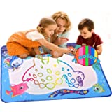 URUShield Water Drawing Mat Kids Doodle Painting Magic Writing Toys for Boys Girls Educational Learning Gift (35 X 27 INCH)