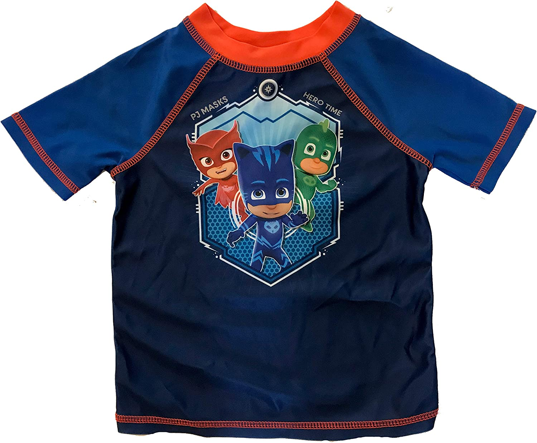 Blue//Red PJ Masks Hero Time Toddler Boys Rash Guard Shirt