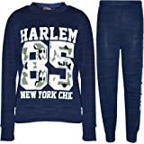 Kids Jogging Suit Girls Harlem 85 Lounge Suit Tracksuit Hoodie Bottom 7-13 Years