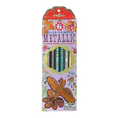 eeBoo Metallic Colored Pencils, Gold Birds, Set of 6: Lifestyle & Gifts