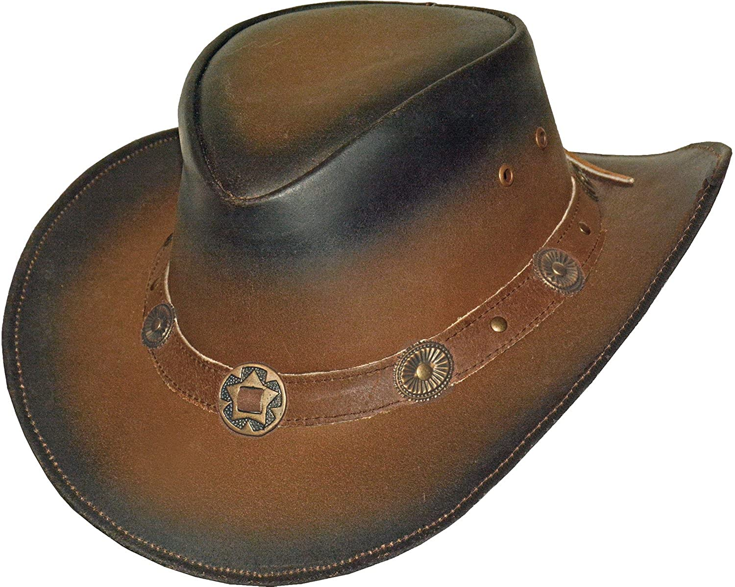 Black Jungle Texaner - Cowboy Leather Hat Size S-XL 10-20-201