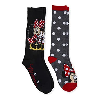726891f6d52 Image Unavailable. Image not available for. Color  2 Pair Minnie Mouse Knee  High Socks ...