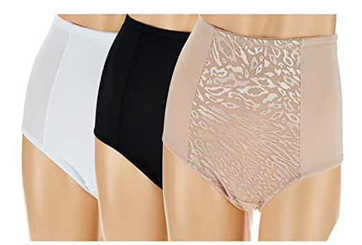Clever Breezies Set Of 4 Nylon Microfiber Hi-cut Panty-basic-1x-new Comfortable And Easy To Wear Panties