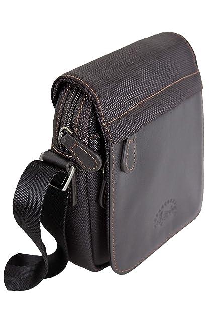 e3df813d3a Francinel Petit sac besace en nylon garni cuir réf 653120 + CADEAU SURPRISE  (marron)