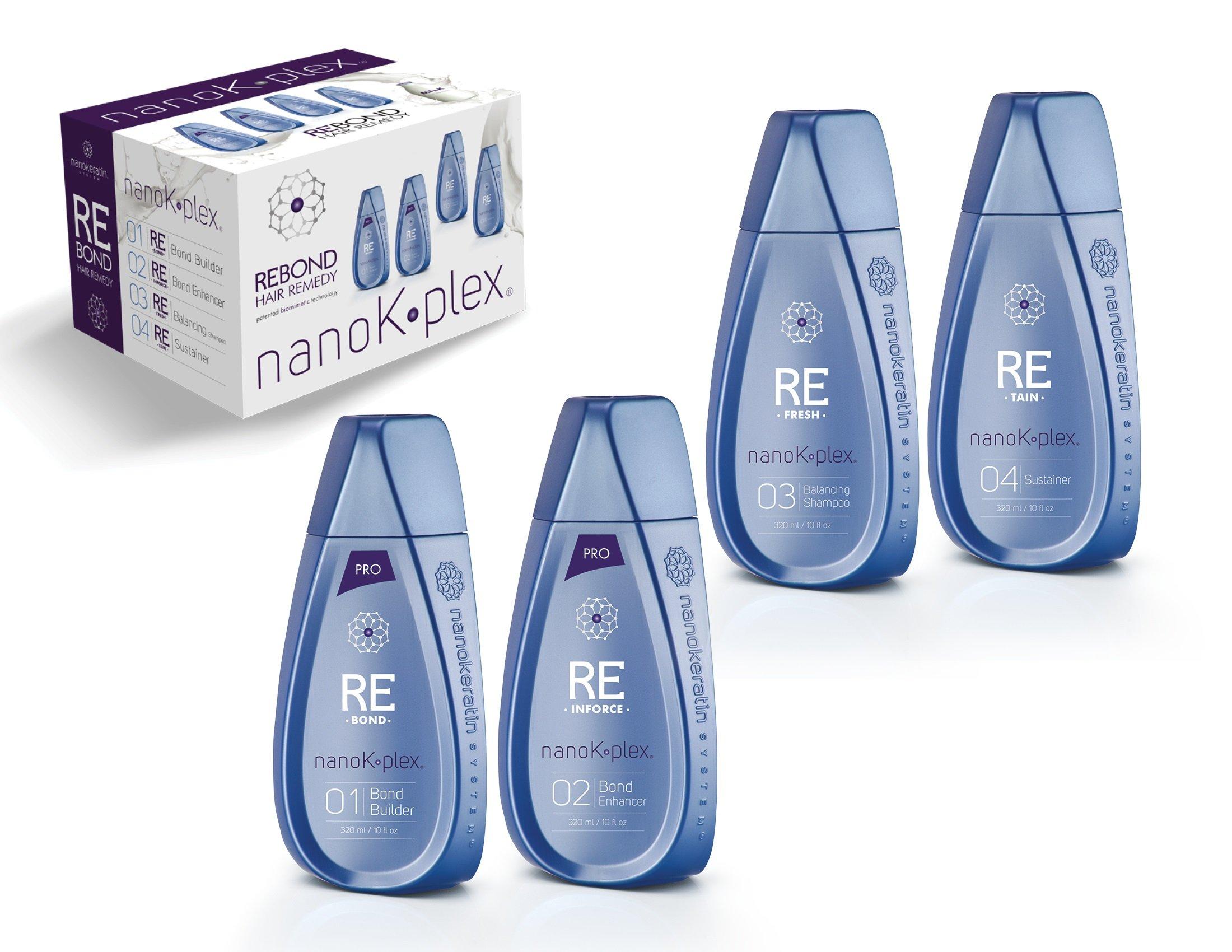 NanoKplex by Nanokeratin System Pro Kit, 10fl oz X 4