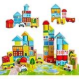 Onshine Bloques Madera Construccion Niños Puzzle Montessori Juguetes Infantiles Coche Hospital Banco Juego Educativo…