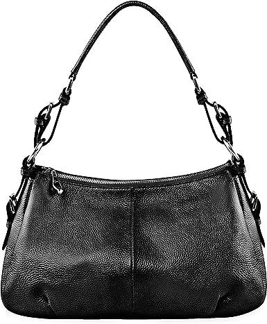 Rullar Women Leather Handbag Tote Large Satchel Colorful Stitching Top Handle Shoulder Bag