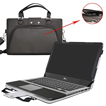 LG gram 15 15Z970 Case,2 in 1 Accurately Designed Protective PU Leather Cover + Portable Carrying Bag For 15.6
