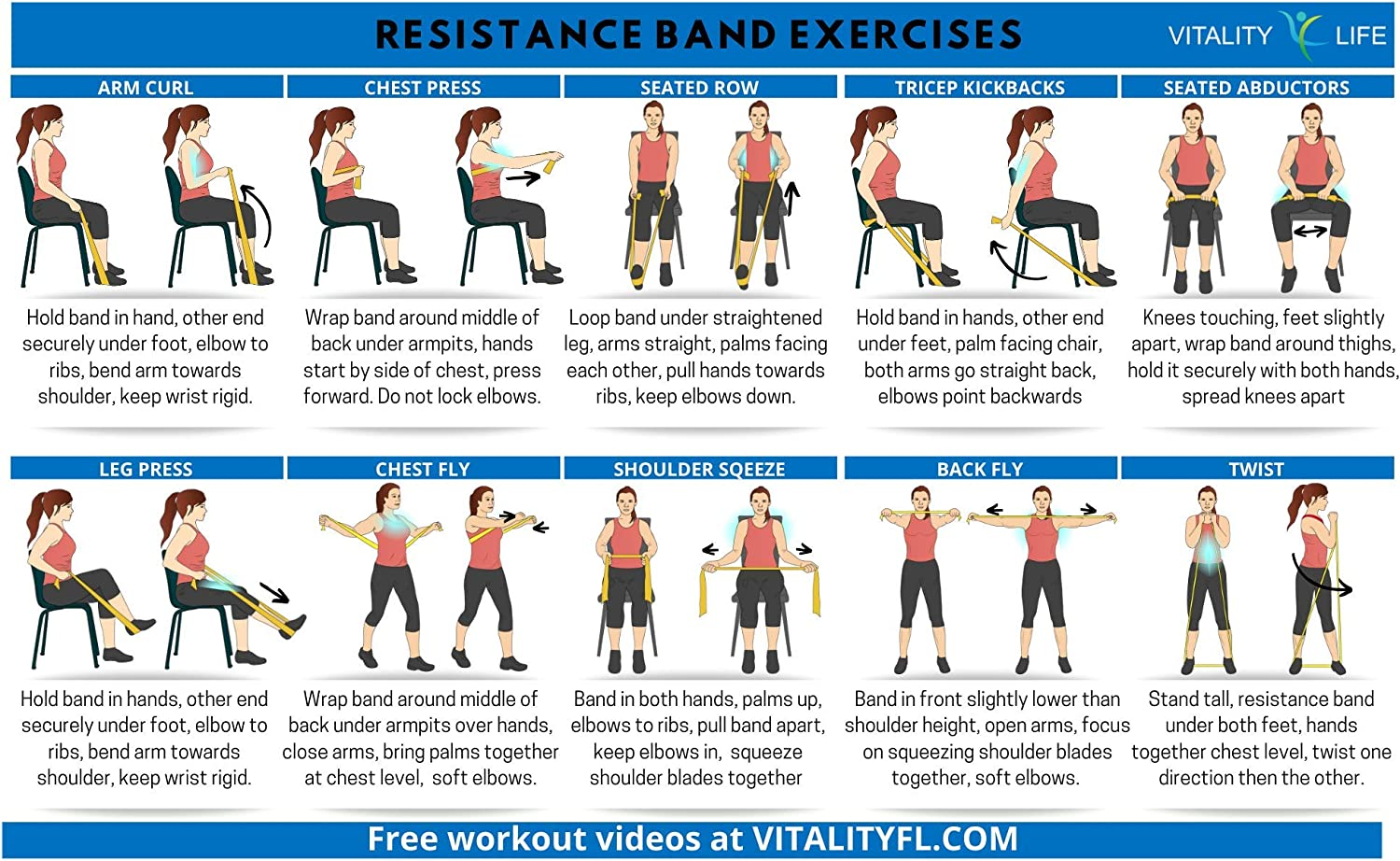 Amazon Com Resistance Band For Seniors Exercise Band Specifically Created For Seniors With Extra Light Resistance And Longer Length Instruction Guide Latex Free Exercise Stretching Physical Therapy Sports Outdoors