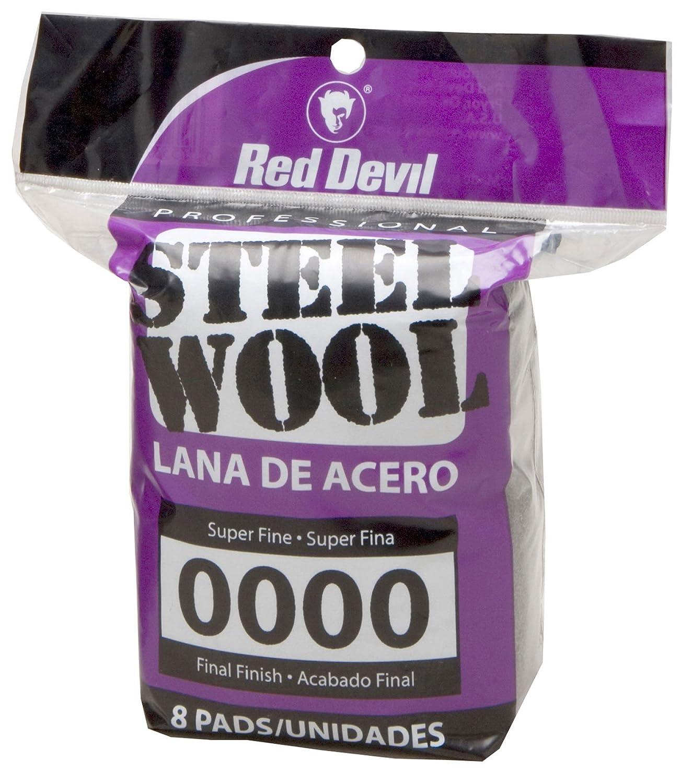 Red Devil 0320 Steel Wool, 0000 Super Fine, 8 Pads