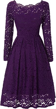 Jh Dress Short Lace Prom Retro Cocktail Dresses Long Sleeves Wedding Dresses For Women 50 S Vintage Floral At Amazon Women S Clothing Store