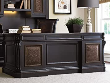 Hooker Furniture Telluride 76u0026quot; Executive Desk With Leather Top