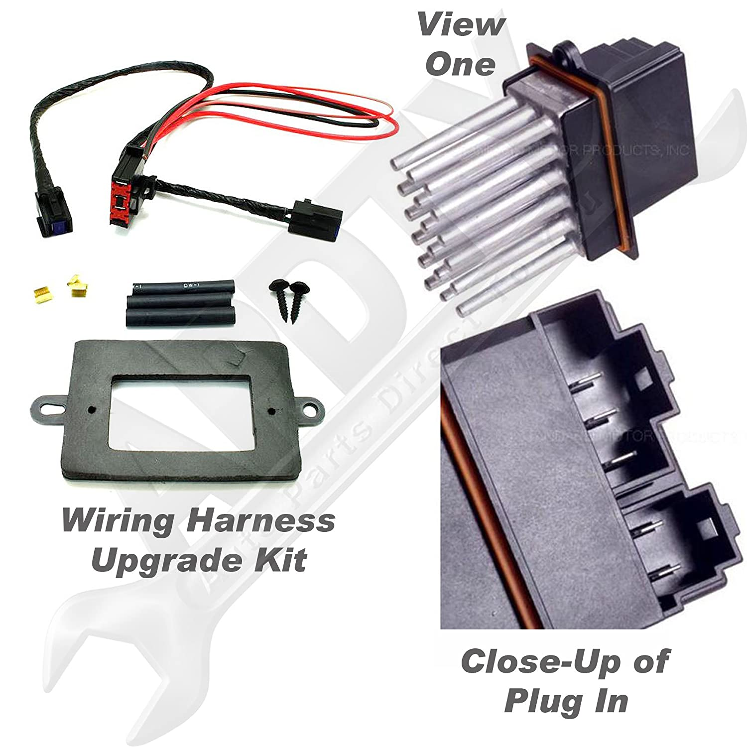 Amazon.com: APDTY 5179985AA & 68052436AA Blower Motor Resistor Power Module  & Wiring Harness Upgrade Kit For 1999-2004 Jeep Grand Cherokee w/ATC  (Automatic ...
