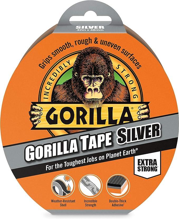 3044901 Gorilla Tape Silver 48mm X 32m Gorilla Tape