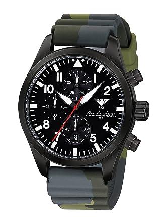 Airleader Edelstahl Ip dc3 Steel Chronograph Khs airbsc Black nkwP0O