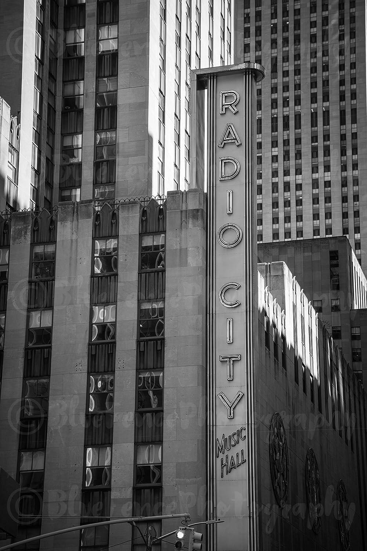 Amazon.com: Radio City Music Hall Sign, Art Print, Wall ...