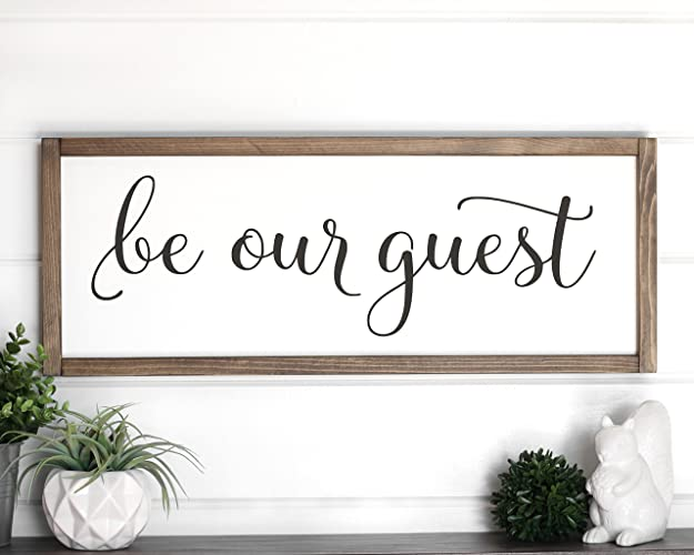 Amazon.com Be Our Guest Sign Farmhouse Wall Decor 25  x 9.5  Handmade  sc 1 st  Amazon.com & Amazon.com: Be Our Guest Sign Farmhouse Wall Decor 25