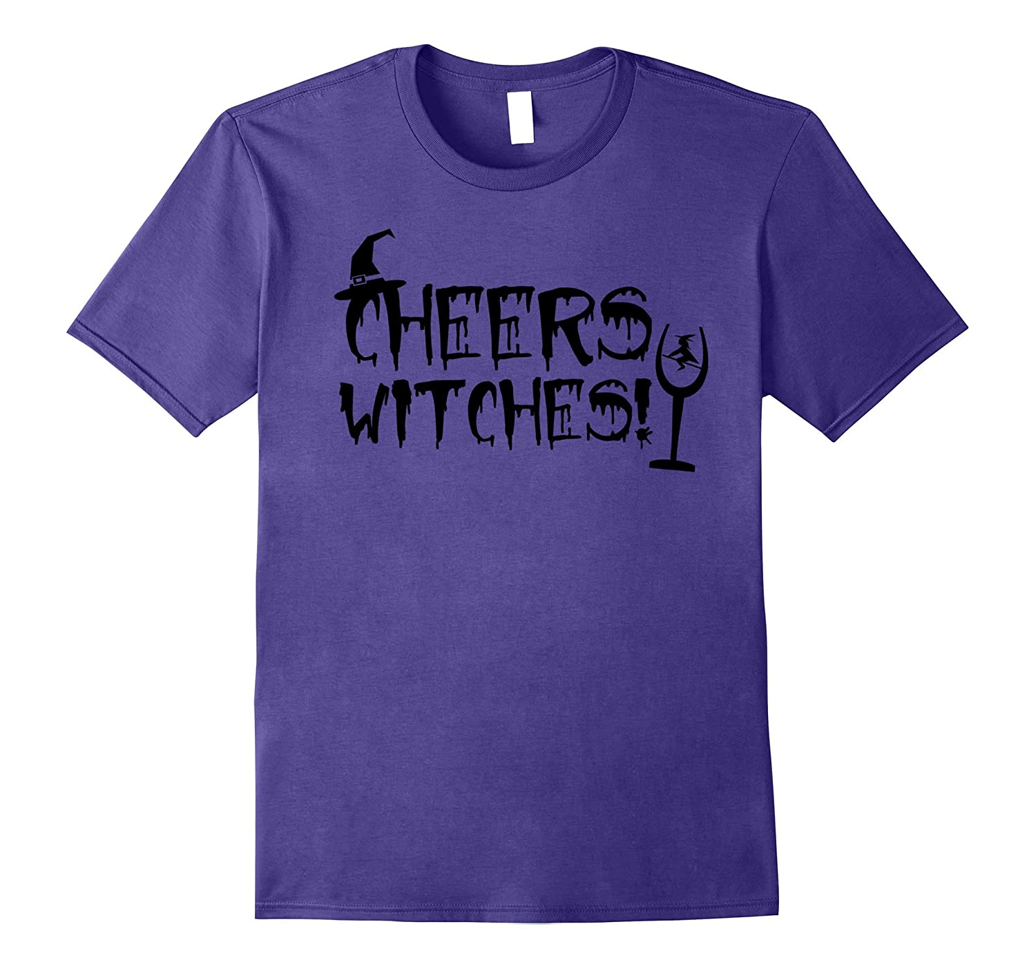 Cheers witches T-shirt wine beer drinking fun halloween-FL
