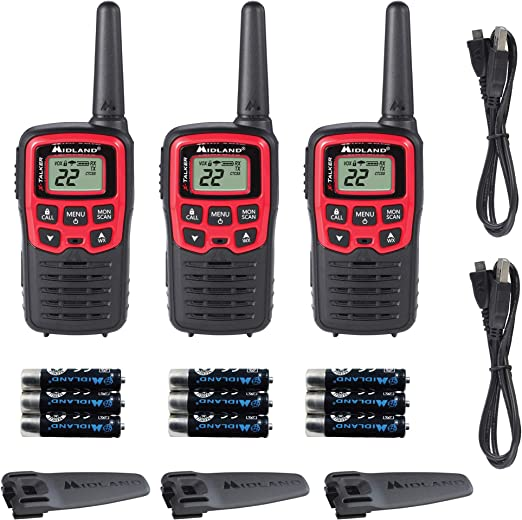 Pair Midland Xtra Talk GXT300 10-Mile 22-Channel FRS//GMRS Two-Way Radio