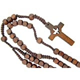 Amazon Price History for:Catholic Confirmation Cut Out Holy Spirit Dove CrossWood Bead Cord Rosary, 18 Inch