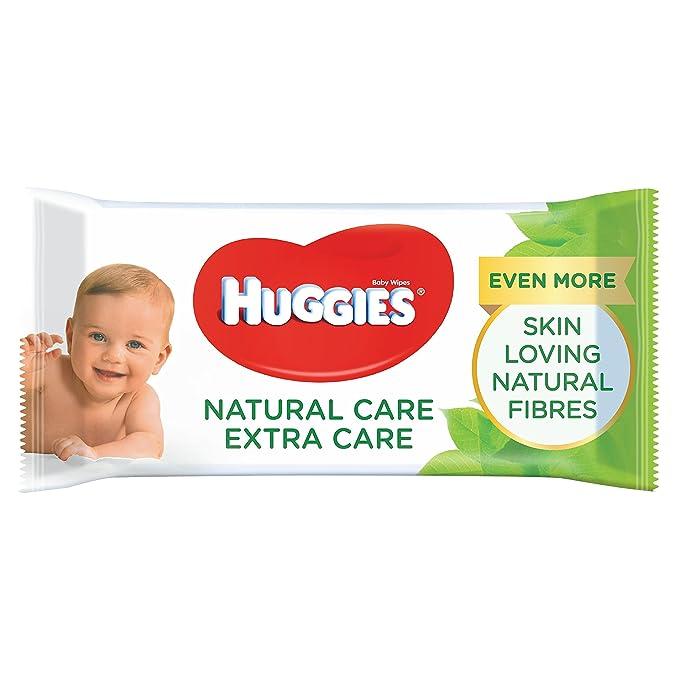 Huggies Natural Care Extra Care - Toallitas para bebé: Amazon.es: Salud y cuidado personal