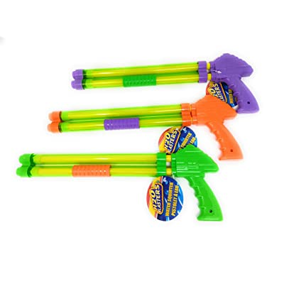 Kids Spring Summer Gun Pump Super Soaker Backyard Float Outdoor Playtime Pool Lake Beach Swim (3) Water Squirter Summer Pool Fun 12 inch Water Shooter: Toys & Games