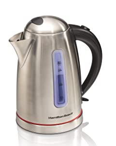 Hamilton Beach 040094409884 40988 1.7 L Electric Kettle, Stainless Steel