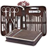 AUTENPOO Nail Clippers, 26 in 1 Manicure Set Professional Pedicure Kit, Functional Nail Kit for Pedicure & Manicure, Pedicure