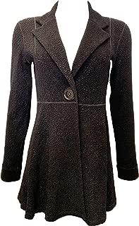 product image for Eva Varro L/SL. Empire ONE Button Jacket Black Pebbles Unlined XS-3X