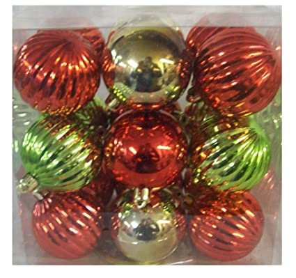 target 36 count shatter resistant ball christmas tree ornaments red green gold 225 - Christmas Ornaments Target