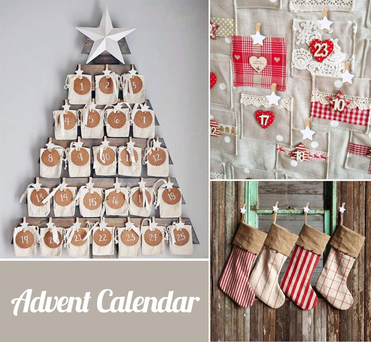 ABSOFINE 100 St/ück Sternen W/äscheklammer Holz Weihnachten Holzklammern zum Foto Kleine Handwerk klammern f/ür Party Weihnachten Dekoration Hochzeit