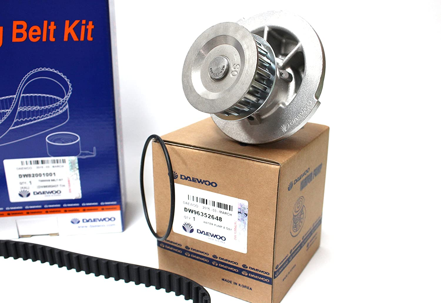 Amazon.com: Timing Belt Kit for Chevy Chevorlet Corsa Daewoo Cielo Lanos with Water Pump (96352648) Part: 82001001: Automotive