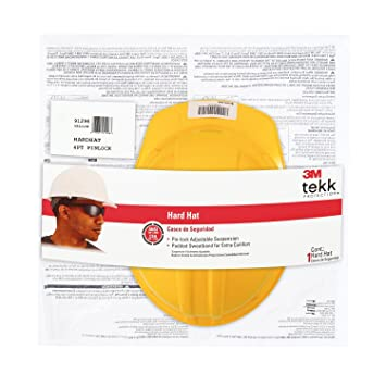 3m Chh-p-y12 Tekk Protection Hard Hat With Pinlock Adjustment, Yellow