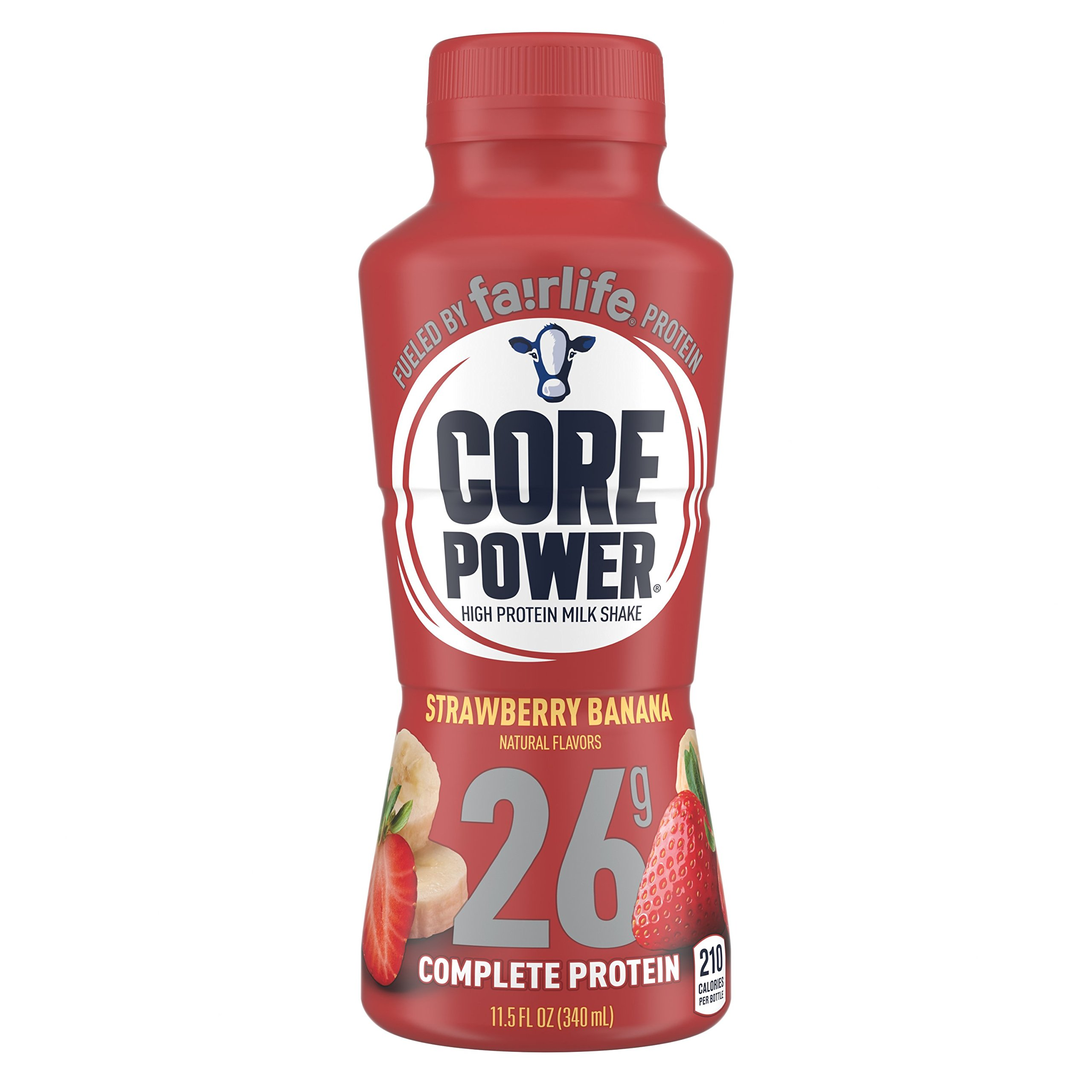 fairlife Core Power High Protein (26g) Milk Shake, Strawberry Banana (Packaging May Vary), 11.5-ounce bottles (pack of 12)