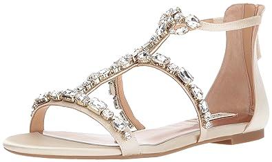 9e038b4d5b84 Badgley Mischka Women s Waren Flat Sandal
