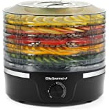 Elite Gourmet EFD319 Food Dehydrator, 5 BPA-Free Trays Adjustable Temperature Control for Jerky Herbs Fruit Veggies…