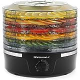 Elite Gourmet EFD319 Food Dehydrator, Adjustable Temperature Controls, Jerky Herbs Fruit Veggies Snacks, BPA-Free, Black 5 Tr