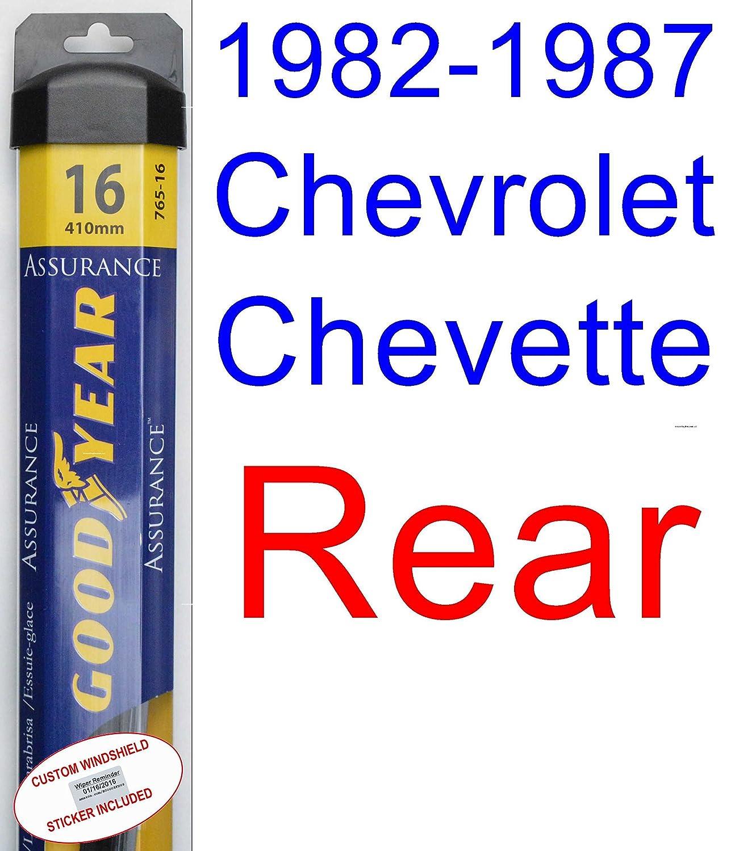 1982 - 1987 Chevrolet Chevette hoja de limpiaparabrisas de repuesto Set/Kit (Goodyear limpiaparabrisas blades-assurance) (1983,1984,1985,1986): Amazon.es: ...