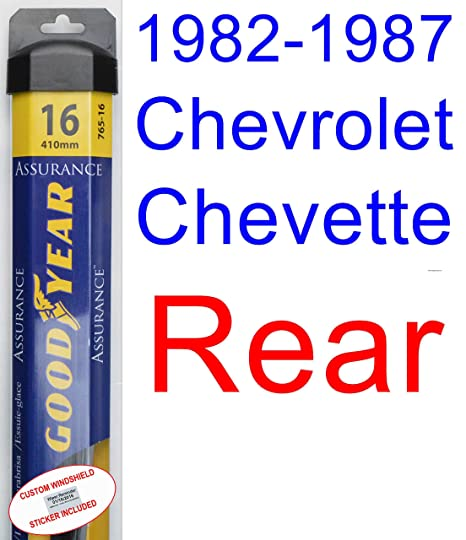 1982 – 1987 Chevrolet Chevette hoja de limpiaparabrisas de repuesto Set/Kit (Goodyear limpiaparabrisas
