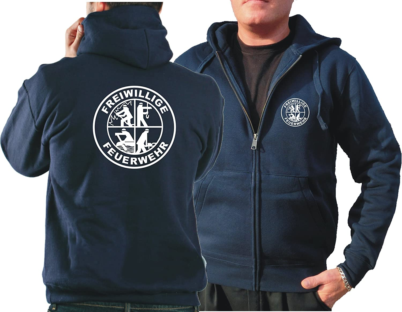 Kapuzensweatjacke navy, Freiwillige Feuerwehr mit DFV-Logo feuer1