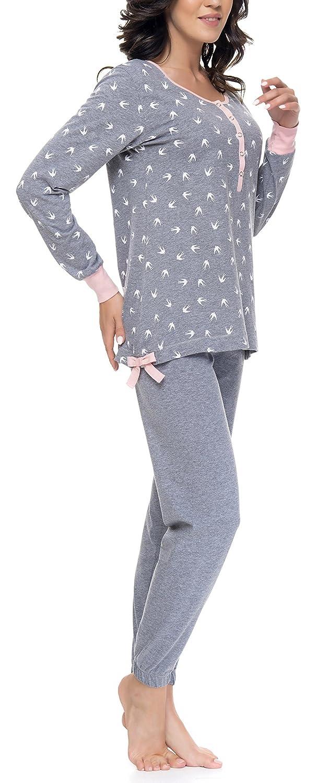 DN Nightwear - Pijama para mujer (para embarazo y lactancia), de manga larga: Amazon.es: Ropa y accesorios