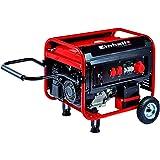 Einhell Stromerzeuger (Benzin) TC-PG 5500 WD (7 kW, Dauerleistung bis 3.600 W/3.000 W, 230 V. u. 400 V.-Anschlüsse, luftgekühlter 4-Takt-Motor, 25 l-Tank, Überlastschalter, Ölmangelsicherung, AVR-Funktion, Elektrostart, Räder u. Klappgriff)
