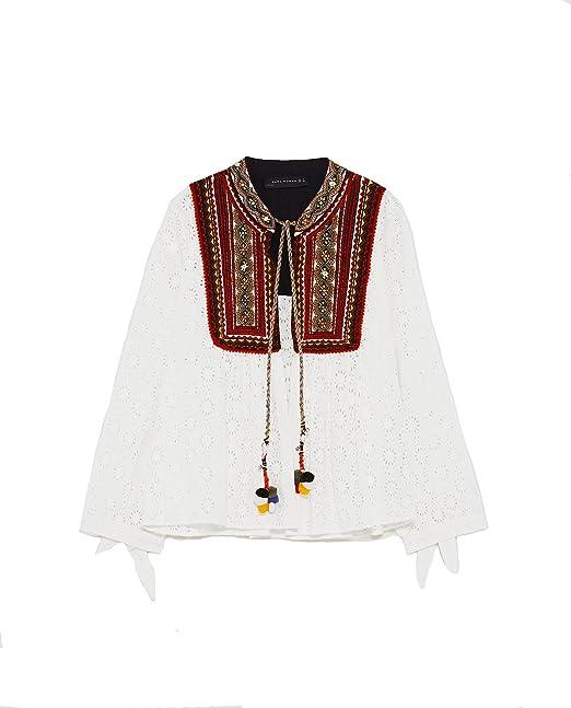 Zara - Camisas - para mujer blanco S: Amazon.es: Ropa y ...