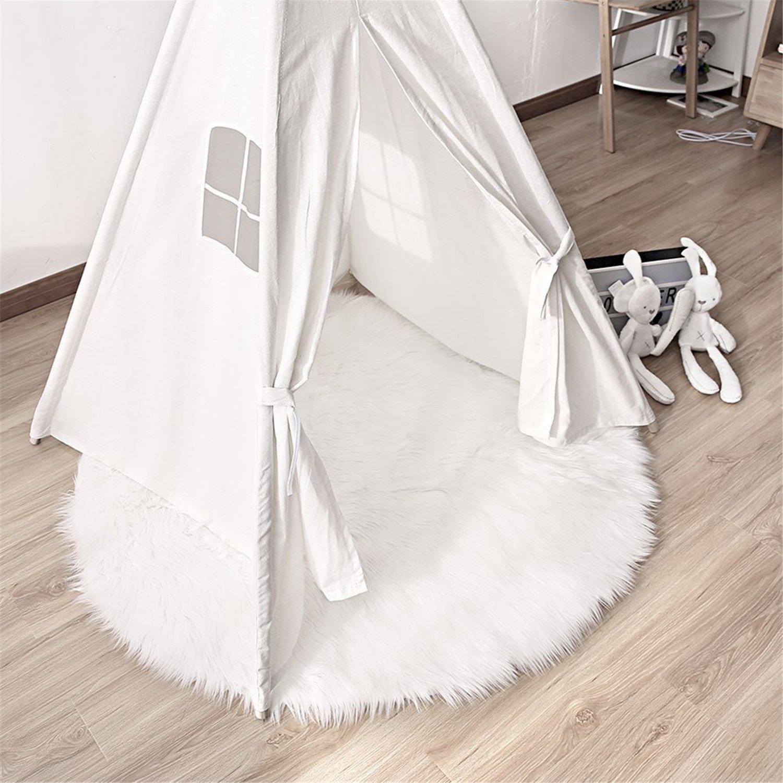 LIYINGKEJI Deluxe Weiche Moderne Faux Schaffell Shag Teppiche Kinder Spielen Teppich F/ür Wohnzimmer /& Schlafzimmer Sofa 30x30 cm Grau