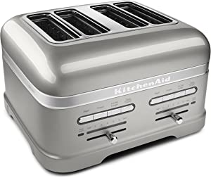 KitchenAid KMT4203SR Pro Line Series Sugar Pearl Silver 4-Slice Automatic Toaster