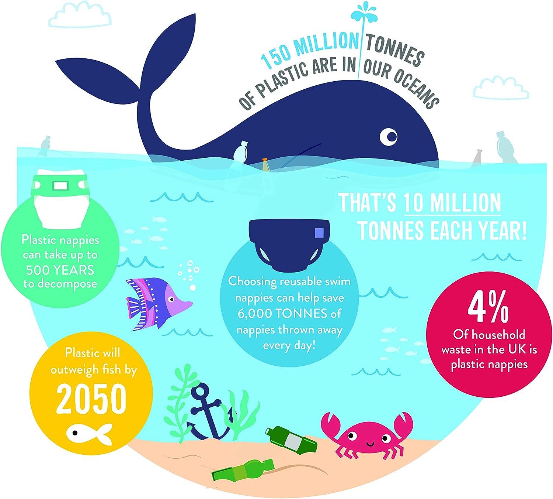 Bambino Mio Reusable Swim Nappy Neon Shark Extra Large 2 Years+